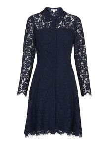 Whistles Lace Shirt Dress