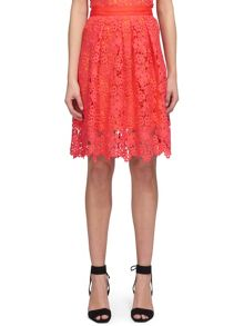 Whistles Meadow Lace Skirt