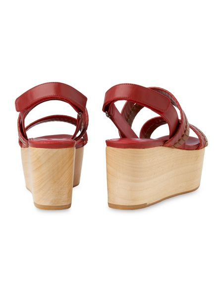 Whistles Eden Woven Wood Wedge