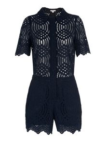 Whistles Clementine Lace Playsuit