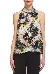 Whistles Wild Floral Roll Neck Top