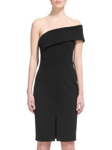 Whistles Cold Shoulder Bandeau Dress