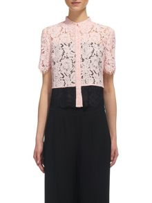 Whistles Scalloped Lace Shirt
