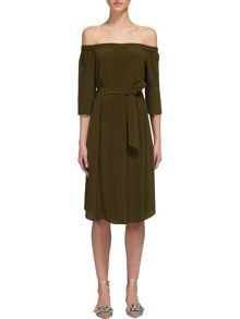 Whistles Flavia Bardot Silk Dress