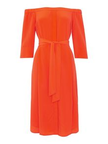 Whistles Flavia Bardeau Silk Dress