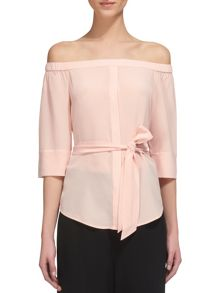 Whistles Flavia Bardeau Silk Top