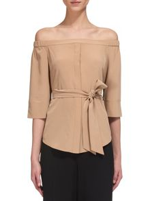 Whistles Flavia Bardot Silk Top