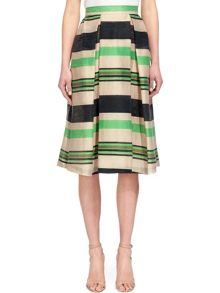 Whistles Miriam Stripe Midi Skirt