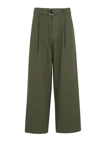 Whistles Cropped Wide Leg Trousers