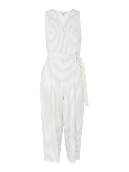 Whistles Ria Striped Jersey Jumpsuit