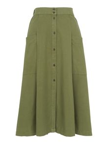 Whistles Edin Button Through Skirt