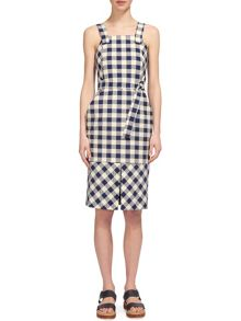 Whistles Gita Apron Check Dress