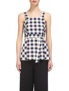 Whistles Gita Check Strappy Top