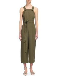 Whistles Tie Front Dungaree Jumpsuit