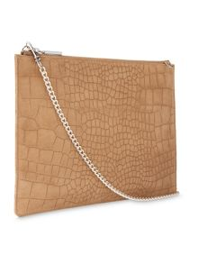 Whistles Suede Croc Rivington Clutch