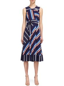 Whistles Multi Stripe Dress