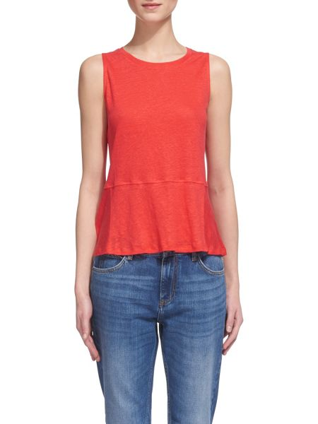 Whistles Linen Peplum Top