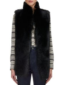 Whistles Sheepskin Reversible Gilet