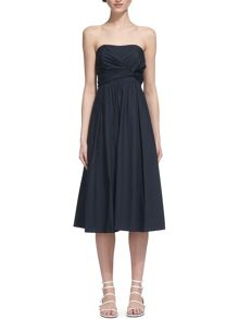 Whistles Bardot Tie Poplin Dress