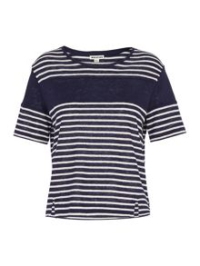 Whistles Stripe Linen T-shirt
