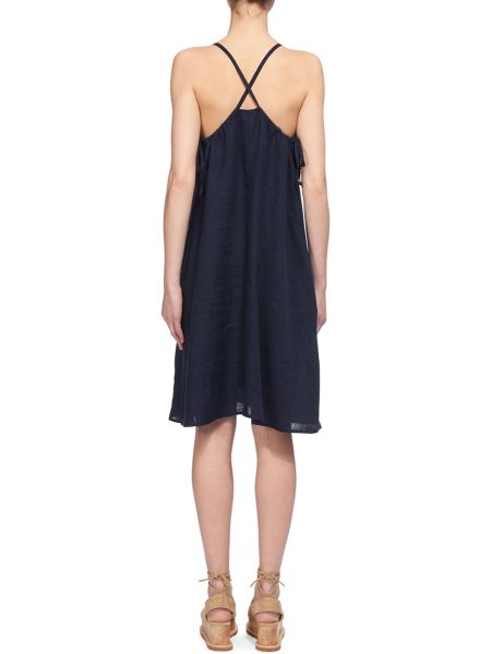 Whistles Marina Linen Swing Dress