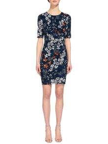 Whistles Bluebell Print Maria Bodycon