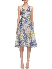 Whistles Bluebell Print Organza Dress