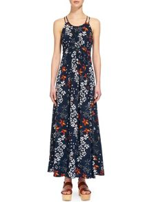 Whistles Bluebell Silk Buena Maxi Dress