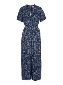 Whistles Star Print Buena Silk Jumpsuit