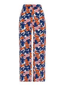 Whistles Damson Print Cropped Trouser