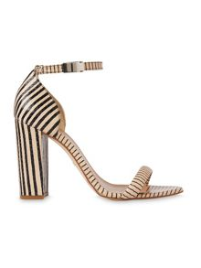 Whistles Hyde Stripe Block Heel Sandal