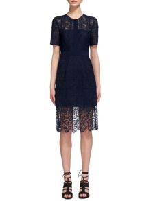 Whistles Ailsa Placement Lace Dress