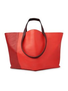 Whistles Java Colourblock Leather Tote
