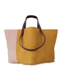 Java Colourblock Nubuck Tote