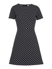 Whistles Stripe Flora Jersey Dress