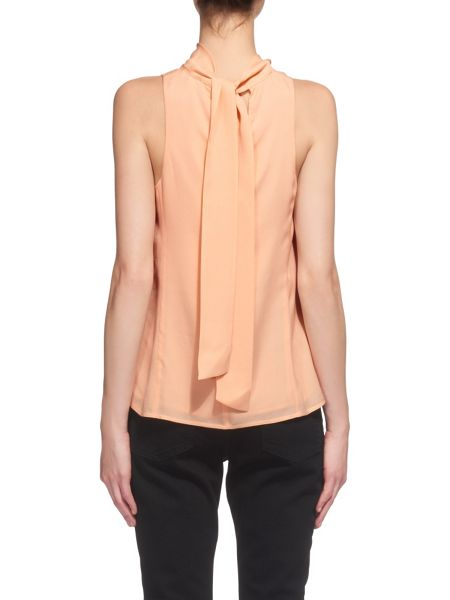 Whistles Florance Tie Neck Silk Blouse