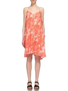 Whistles Iris Print Marina Linen Dress
