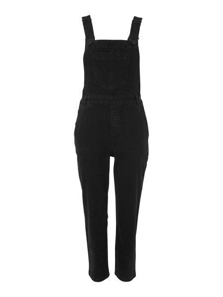 Whistles Cropped Washed Denim Dungaree