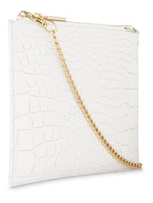 Whistles Tumbled Croc Perry Clutch