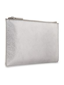 Whistles Tumbled Metallic Small Clutch