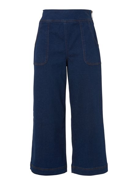 Whistles Cropped Pocket Wide Leg