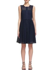 Whistles Lattice Broderie Full Dress