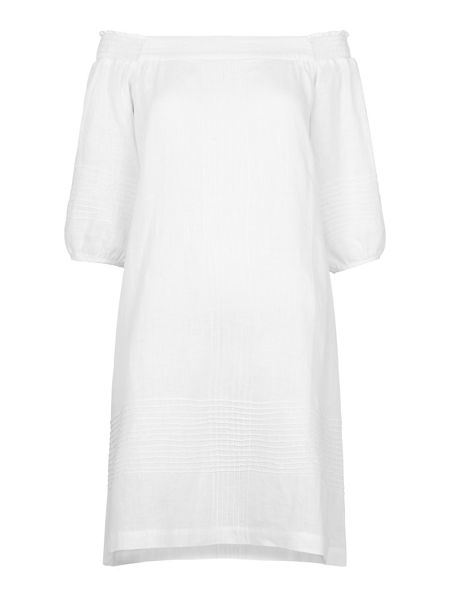 Whistles Lila Bardot Linen Dress