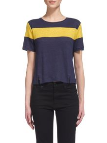 Whistles Colourblock Linen T-shirt
