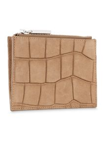 Whistles Suede Croc Coin Purse