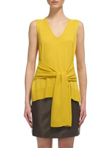Whistles Tie Front Sleeveless Knit