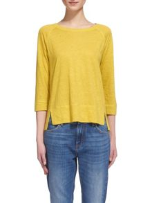 Whistles Alice Linen 3/4 Sleeve T-shirt