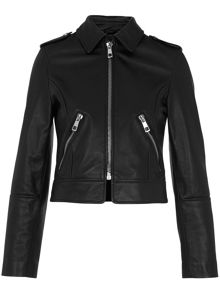 Whistles Brooke Leather Biker