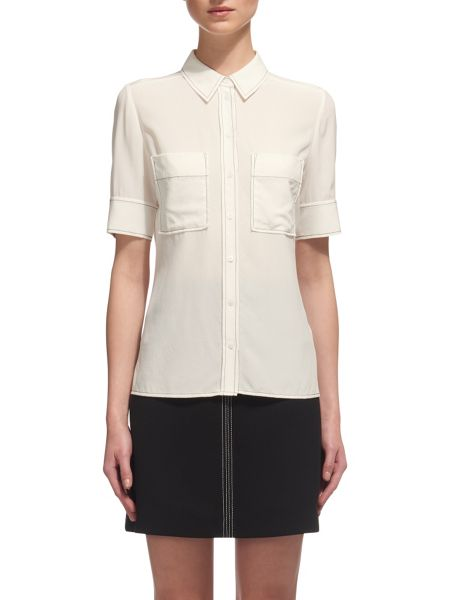 Whistles Rita Stitch Silk Blouse