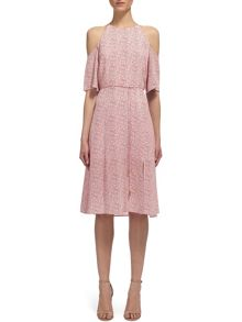Whistles Double Dot Silk Tier Dress
